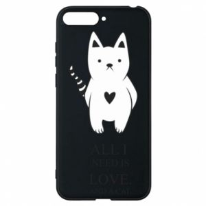 Etui na Huawei Y6 2018 All i need is love and a cat