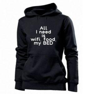 Bluza damska All I need is wifi, food, my bed