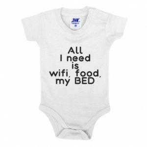 Body dziecięce All I need is wifi, food, my bed