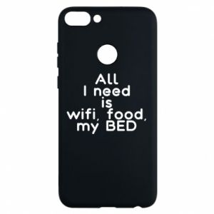 Etui na Huawei P Smart All I need is wifi, food, my bed