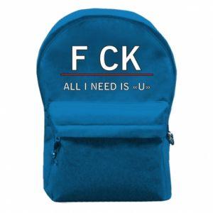 Plecak z przednią kieszenią All i need is you