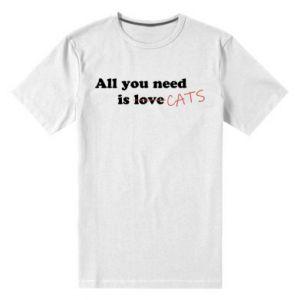 Męska premium koszulka All you need is cats