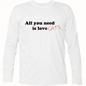 Koszulka z długim rękawem All you need is cats