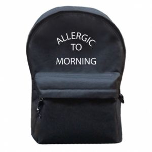 Backpack with front pocket Allergic to morning