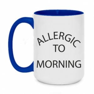 Kubek dwukolorowy 450ml Allergic to morning