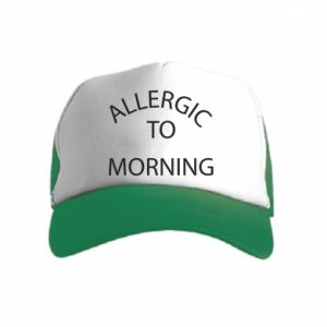 Czapka trucker dziecięca Allergic to morning