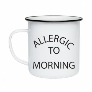Kubek emaliowany Allergic to morning