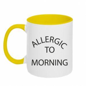 Kubek dwukolorowy Allergic to morning