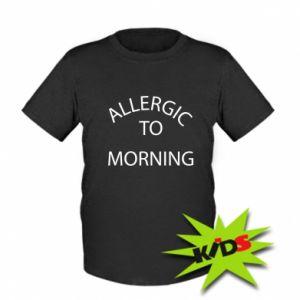 Kids T-shirt Allergic to morning