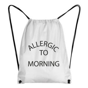 Plecak-worek Allergic to morning