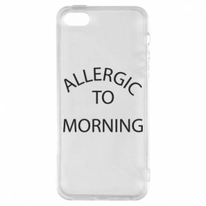 Etui na iPhone 5/5S/SE Allergic to morning