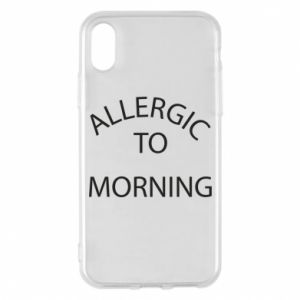 Etui na iPhone X/Xs Allergic to morning