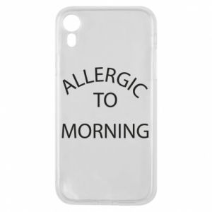 Etui na iPhone XR Allergic to morning