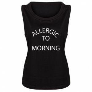 Damska koszulka bez rękawów Allergic to morning