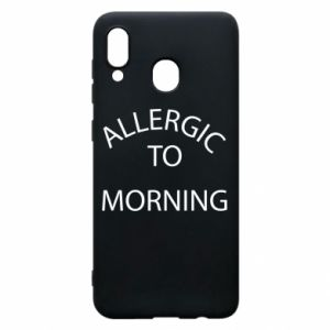 Etui na Samsung A20 Allergic to morning