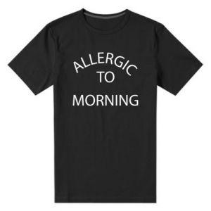 Męska premium koszulka Allergic to morning