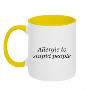 Kubek dwukolorowy Allergik to stupid people