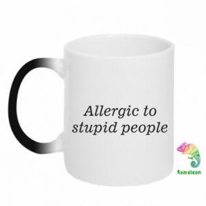 Kubek-magiczny Allergik to stupid people