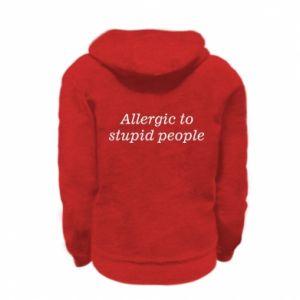 Bluza na zamek dziecięca Allergik to stupid people