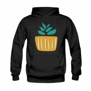Bluza z kapturem dziecięca Aloe in a pot