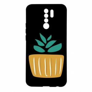 Etui na Xiaomi Redmi 9 Aloe in a pot