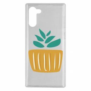 Etui na Samsung Note 10 Aloe in a pot