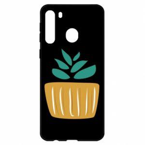 Etui na Samsung A21 Aloe in a pot
