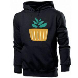 Bluza z kapturem męska Aloe in a pot