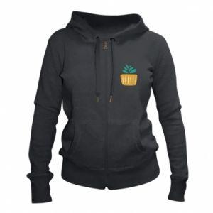 Women's zip up hoodies Aloe in a pot