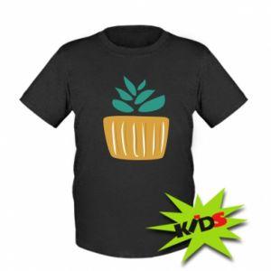 Dziecięcy T-shirt Aloe in a pot