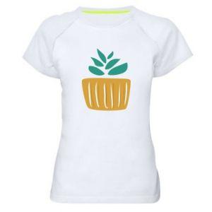 Koszulka sportowa damska Aloe in a pot