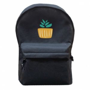 Backpack with front pocket Aloe in a pot