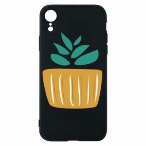 Etui na iPhone XR Aloe in a pot