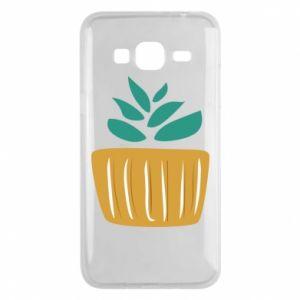 Etui na Samsung J3 2016 Aloe in a pot