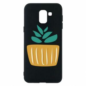 Etui na Samsung J6 Aloe in a pot