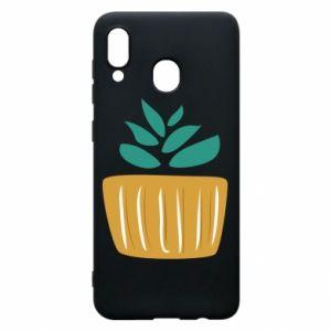Etui na Samsung A20 Aloe in a pot