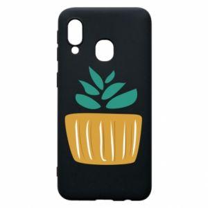 Etui na Samsung A40 Aloe in a pot