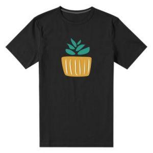 Men's premium t-shirt Aloe in a pot