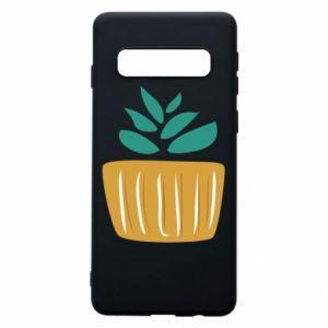 Etui na Samsung S10 Aloe in a pot