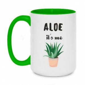Two-toned mug 450ml Aloe it's me