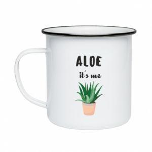 Enameled mug Aloe it's me