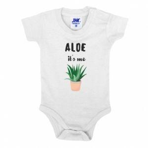 Baby bodysuit Aloe it's me