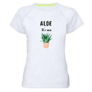 Women's sports t-shirt Aloe it's me