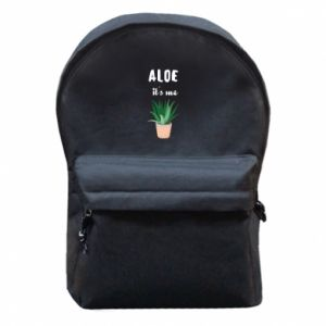Backpack with front pocket Aloe it's me