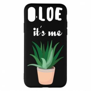 Phone case for iPhone X/Xs Aloe it's me