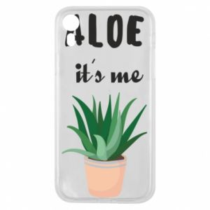 Phone case for iPhone XR Aloe it's me
