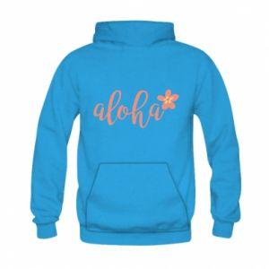 Bluza z kapturem dziecięca Aloha tropic flower