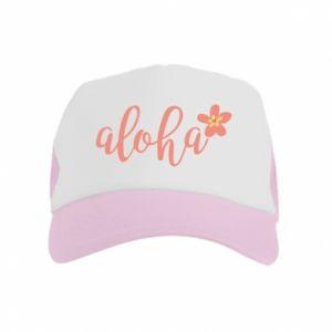 Czapka trucker dziecięca Aloha tropic flower