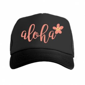 Czapka trucker Aloha tropic flower