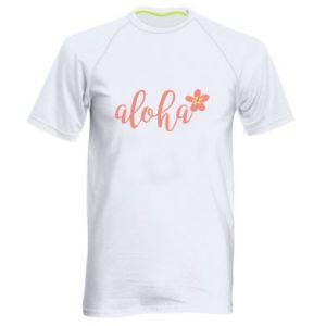 Koszulka sportowa męska Aloha tropic flower